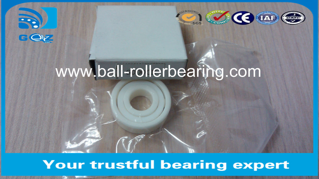ZrO2  Si3N4  6002CE Ceramic Ball Bearings Abrasion Resistance 15x32x9mm