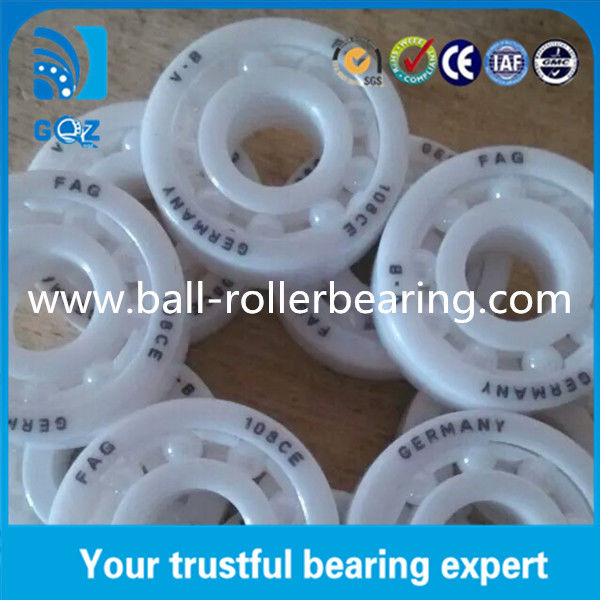 108 Ceramic Ball Bearings , Ceramic Racing Bearings CE ISO9001 Certification