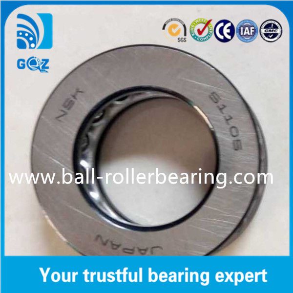 51105 Thrust High Precision Ball Bearing Outside Diameter 42mm With Steel Cage