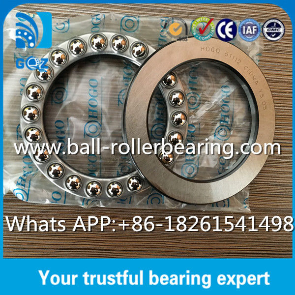 Single Direction Steel Thrust Ball Bearing 51112 High Precision Roller Bearing