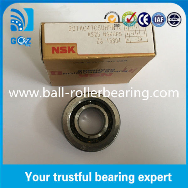 Ball Screw Support Super Precision Bearings Japan Origin Grease Lubrication NSK 20TAC47C 20TAC47CSUHPN7C