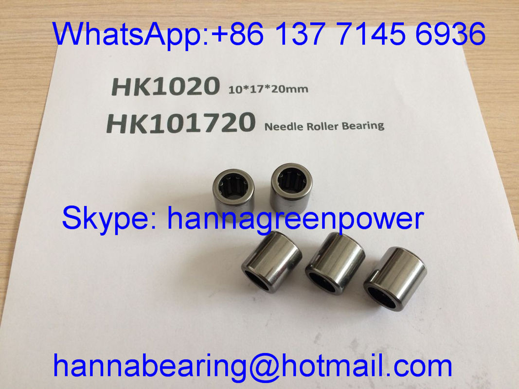 HK101720 / HK1020 / TA1020Z Drawn Cup Needle Roller Bearing With Open End 10*17*20mm