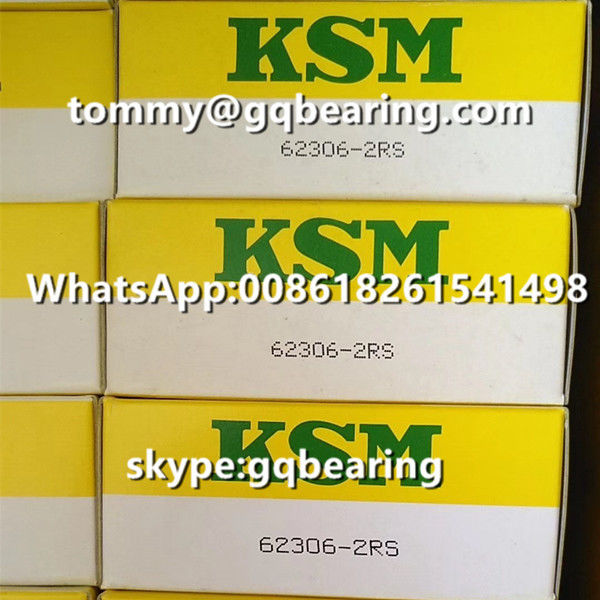 Japan Origin KSM 62306-2RS Rubber Sealed Deep Groove Ball Bearing 30 x 72 x 27 mm